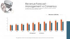 Merger Agreement Pitch Deck Revenue Forecast Management Vs Consensus Inspiration PDF