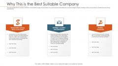 Merger Agreement Pitch Deck Why This Is The Best Suitable Company Topics PDF