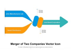 Merger Of Two Companies Vector Icon Ppt PowerPoint Presentation Layouts Layouts PDF