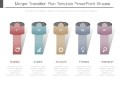 Merger Transition Plan Template Powerpoint Shapes