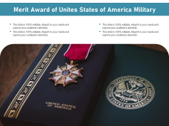 Merit Award Of Unites States Of America Military Ppt PowerPoint Presentation Icon Infographic Template PDF