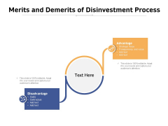 Merits And Demerits Of Disinvestment Process Ppt PowerPoint Presentation Slides Clipart Images PDF