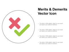Merits And Demerits Vector Icon Ppt PowerPoint Presentation Slides Summary