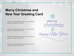 Merry Chrismas And New Year Greeting Card Ppt PowerPoint Presentation Infographic Template Graphics Example