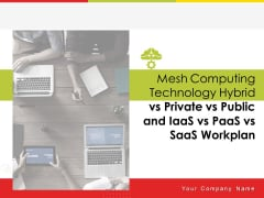 Mesh Computing Technology Hybrid Vs Private Vs Public And Iaas Vs Paas Vs Saas Workplan Ppt PowerPoint Presentation Complete Deck With Slides
