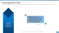 Message From CEO Ppt Gallery Ideas PDF