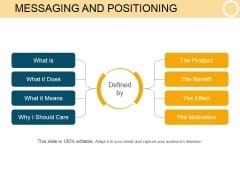 Messaging And Positioning Template 2 Ppt PowerPoint Presentation Graphics
