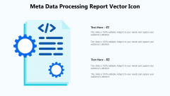 Meta Data Processing Report Vector Icon Ppt PowerPoint Presentation Gallery Summary PDF