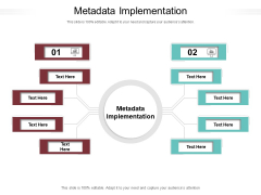 Metadata Implementation Ppt PowerPoint Presentation Layouts Templates Cpb Pdf