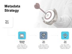 Metadata Strategy Ppt PowerPoint Presentation Deck Cpb Pdf
