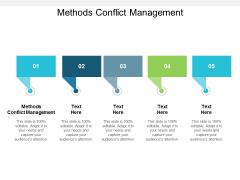 Methods Conflict Management Ppt PowerPoint Presentation Portfolio Portrait Cpb