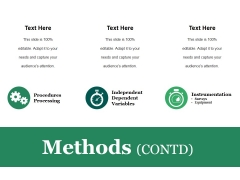 Methods Contd Ppt PowerPoint Presentation Infographic Template Graphics