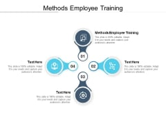 Methods Employee Training Ppt PowerPoint Presentation Summary Rules Cpb