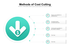 Methods Of Cost Cutting Ppt PowerPoint Presentation Styles Graphics