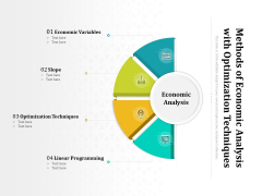 Methods Of Economic Analysis With Optimization Techniques Ppt PowerPoint Presentation Model Files PDF