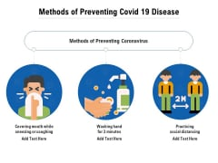 Methods Of Preventing Covid 19 Disease Ppt PowerPoint Presentation File Infographic Template PDF