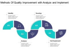 Methods Of Quality Improvement With Analyze And Implement Ppt PowerPoint Presentation Gallery Images PDF