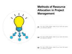 Methods Of Resource Allocation In Project Management Ppt PowerPoint Presentation Show Demonstration PDF