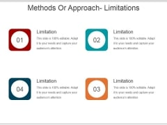 Methods Or Approach Limitations Ppt PowerPoint Presentation Icon Structure