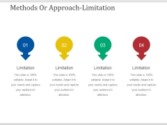 Methods Or Approach Limitations Ppt PowerPoint Presentation Infographics Guidelines