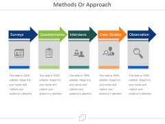 Methods Or Approach Ppt PowerPoint Presentation File Aids