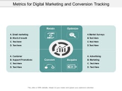 Metrics For Digital Marketing And Conversion Tracking Ppt PowerPoint Presentation Pictures Icon