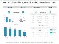 Metrics In Project Management Planning Design Development Ppt PowerPoint Presentation Outline Show