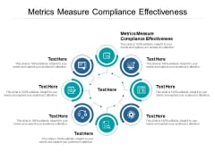 Metrics Measure Compliance Effectiveness Ppt PowerPoint Presentation Background Cpb