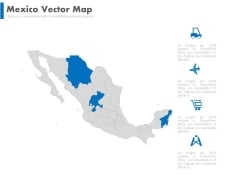 Mexico Map For Travel And Tourism Powerpoint Slides