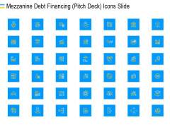 Mezzanine Debt Financing Pitch Deck Icons Slide Clipart PDF