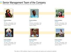 Mezzanine Debt Financing Pitch Deck Senior Management Team Of The Company Ppt File Sample PDF