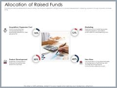 Mezzanine Venture Capital Funding Pitch Deck Allocation Of Raised Funds Summary PDF