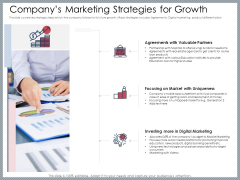 Mezzanine Venture Capital Funding Pitch Deck Companys Marketing Strategies For Growth Guidelines PDF