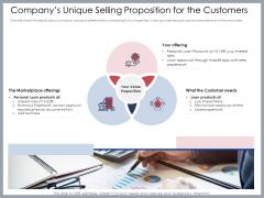 Mezzanine Venture Capital Funding Pitch Deck Companys Unique Selling Proposition For The Customers Diagrams PDF