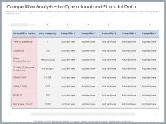 Mezzanine Venture Capital Funding Pitch Deck Competitive Analysis By Operational And Financial Data Ideas PDF