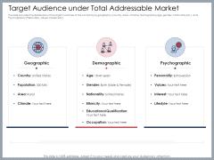 Mezzanine Venture Capital Funding Pitch Deck Target Audience Under Total Addressable Market Download PDF