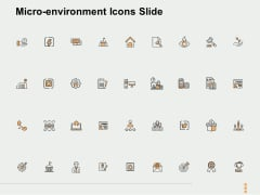 Micro Environment Icons Slide Ppt PowerPoint Presentation Ideas Example Introduction