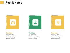 Micro Macro Environment Elements Post It Notes Ppt Model Deck PDF