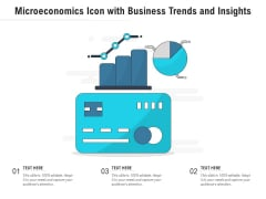 Microeconomics Icon With Business Trends And Insights Ppt PowerPoint Presentation File Graphics Download PDF