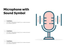 Microphone With Sound Symbol Ppt PowerPoint Presentation Pictures Ideas