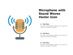 Microphone With Sound Waves Vector Icon Ppt PowerPoint Presentation File Images