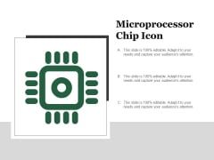 Microprocessor Chip Icon Ppt PowerPoint Presentation Styles Picture
