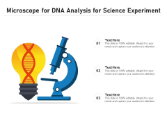 Microscope For DNA Analysis For Science Experiment Ppt PowerPoint Presentation Gallery Deck PDF