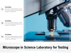 Microscope In Science Laboratory For Testing Ppt PowerPoint Presentation Pictures Slideshow PDF