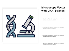 Microscope Vector With DNA Strands Ppt PowerPoint Presentation Show Example