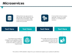 Microservices Ppt PowerPoint Presentation Show Infographic Template