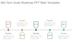 Mid Term Goals Roadmap Ppt Slide Templates