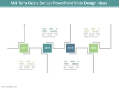 Mid Term Goals Set Up Powerpoint Slide Design Ideas