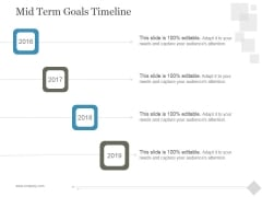 Mid Term Goals Timeline Ppt PowerPoint Presentation Background Image