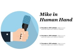 Mike In Human Hand Ppt PowerPoint Presentation Show Skills